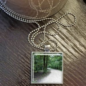 A Walk in the Woods Square Pendant